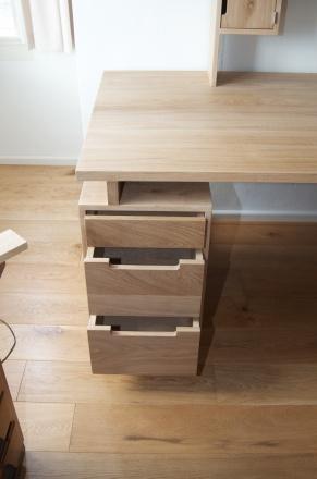 Studio Evers eikenhouten bureau 3